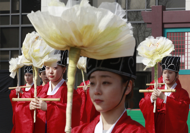 File pic - S Korean students during a ceremony at