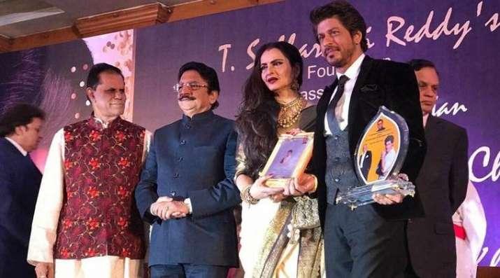 India Tv - Shah Rukh Khan honoured with Yash Chopra Award