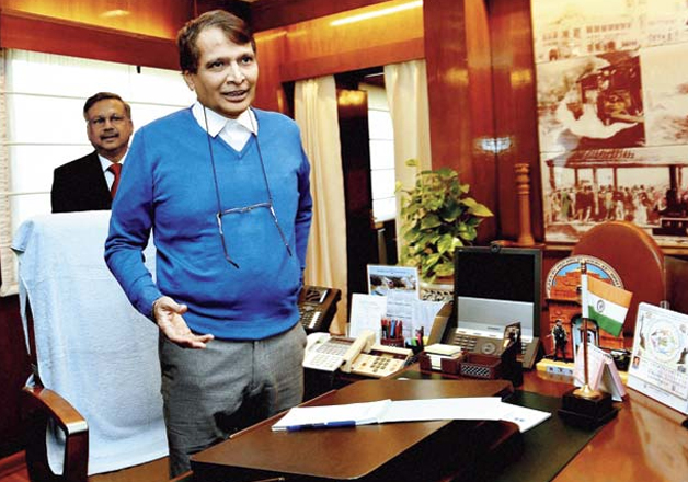 File pic of Union Railway Minister Suresh Prabhu