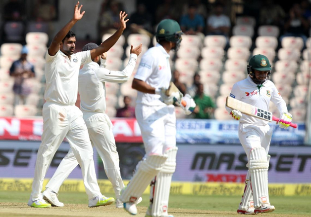 Ind vs Ban, 1st Test: Jadeja, Ashwin guide India to strong