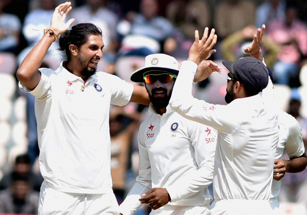 File pic - Indian players on the final day of one-off Test