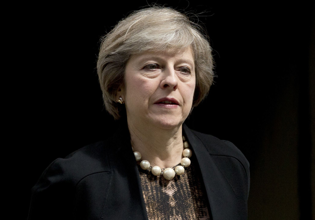 File pic of British Prime Minister Theresa May
