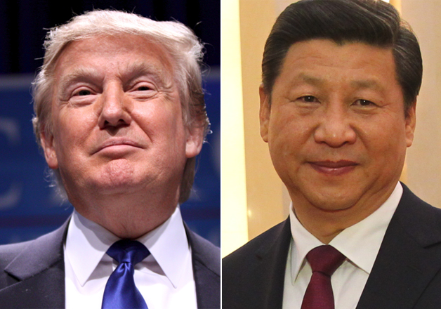 File pic - Donald Trump and Xi Jinping