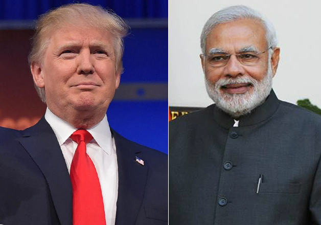 File pic - Donald Trump and Narendra Modi