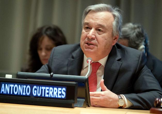 File pic of UN Secretary-General Antonio Guterres