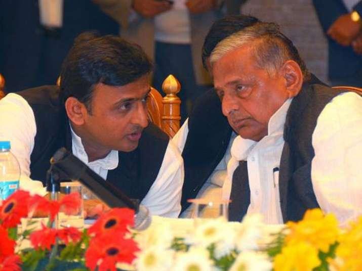 File pic of Akhilesh Yadav and Mulayam Singh Yadav