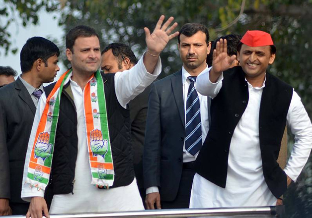 Congress eyeing 'mahagathbandhan' with SP, BSP to