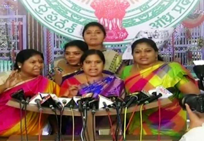 Ruckus in Andhra Assembly as women lawmakers nearly come to