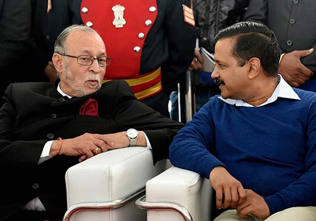 File pic of Anil Baijal and Arvind Kejriwal
