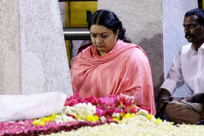 Deepa Jayakumar sitting in a meditation in front of