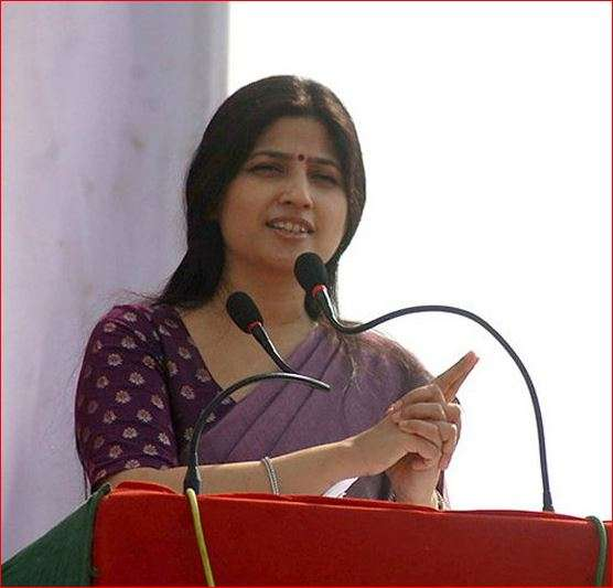 India Tv - Dimple Yadav addressing a rally
