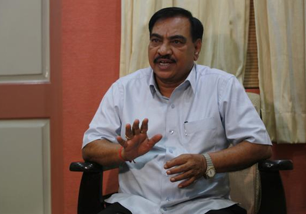 File pic of BJP leader Eknath Khadse