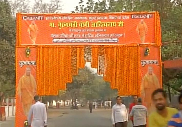 Preparations underway for CM Yogi Adityanath's maiden