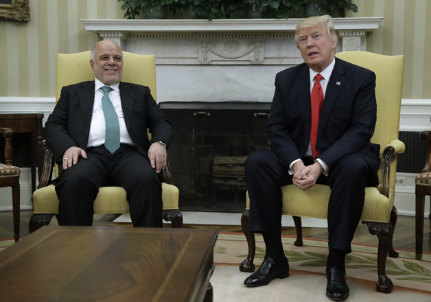President Trump meets with Iraqi PM Haider al-Abadi in the