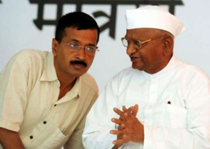 File pic. Anna Hazare with Arvind Kejriwal at the height of