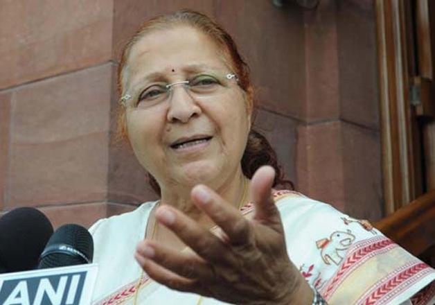 File pic of Sumitra Mahajan