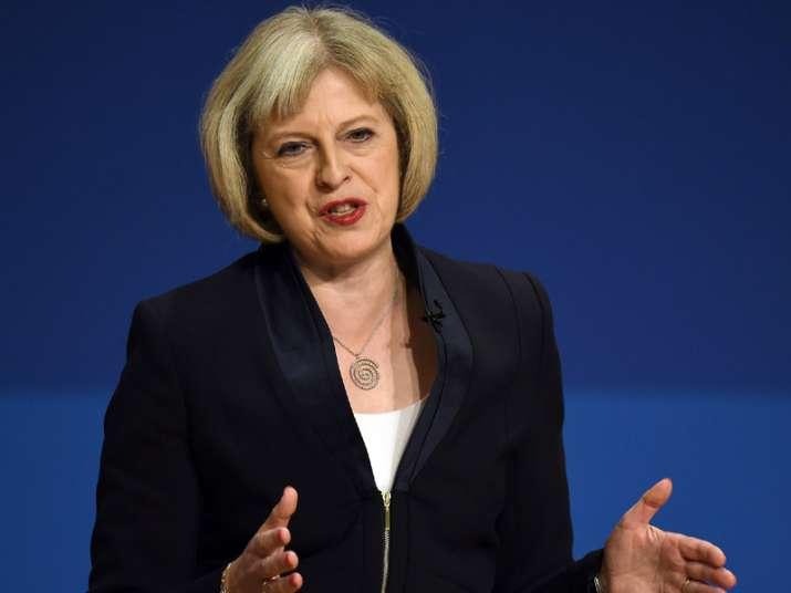 File pic of British Prime Minister Theresa May