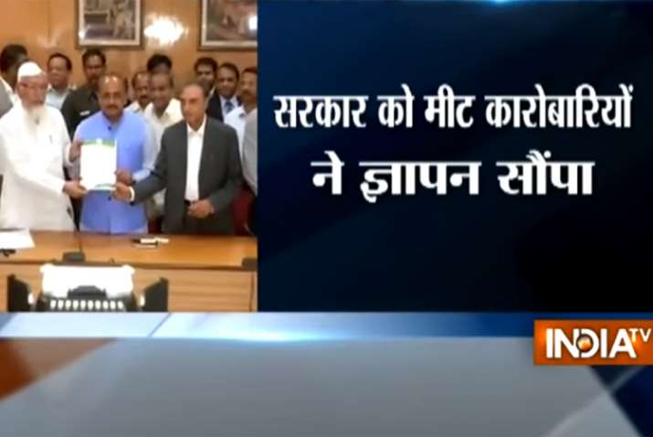 Meat traders meet UP minister SN Singh, submit demands