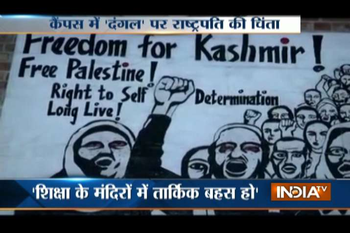 After Ramjas College strife, 'Freedom for Kashmir'