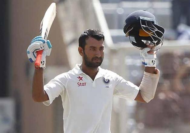 Pujara hits century as India surpass 300-run mark