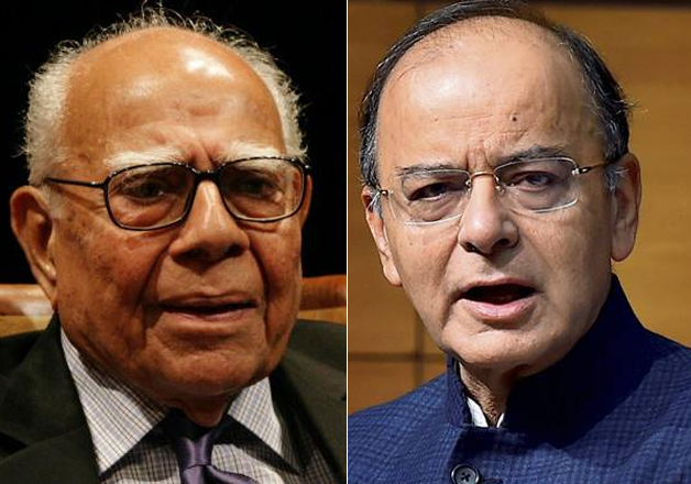 Ram Jethmalani grills Arun Jaitley for the second day