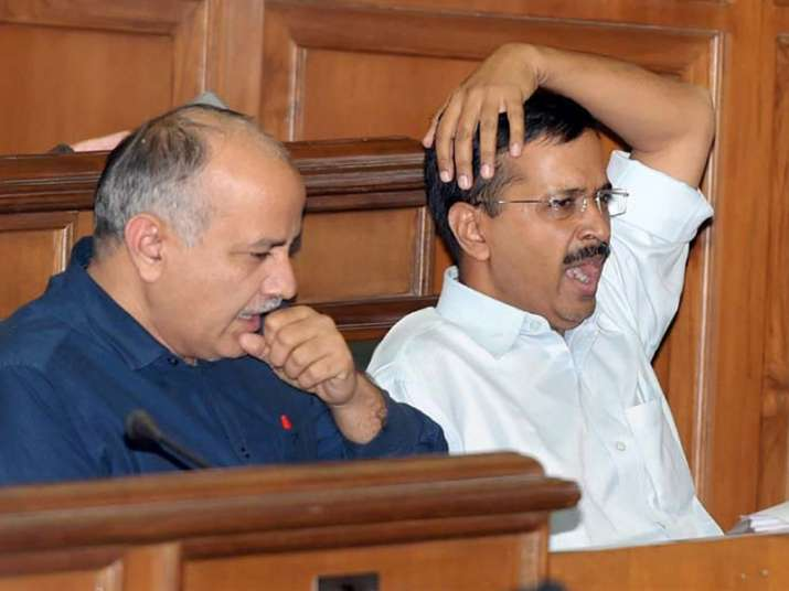 File pic of Manish Sisodia and Arvind Kejriwal
