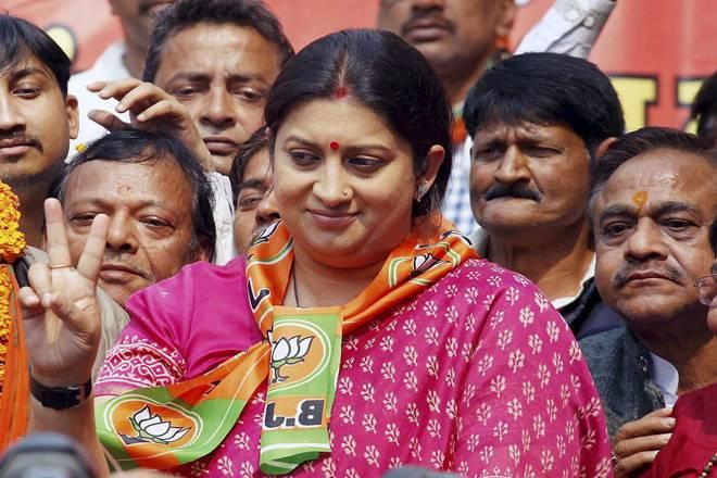Smriti Irani says Priyanka equally responsible for Cong's