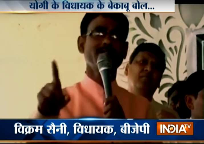 BJP MLA threatens to break limbs of those who kill cows