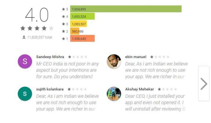 India Tv - Snapchat rating falls to 'one star' on App Store