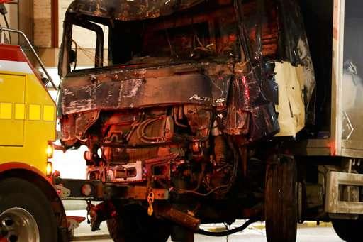 India Tv - Hijacked truck