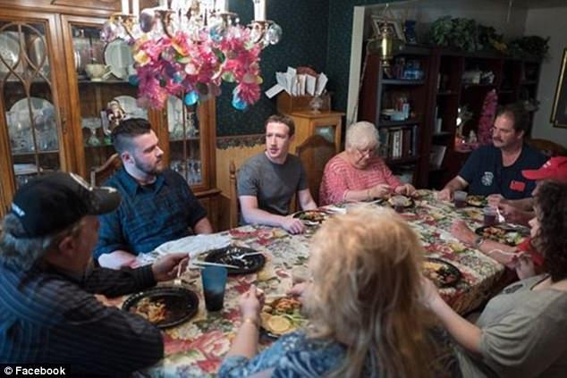 Mark Zuckerberg surprises an Ohio family on dinner