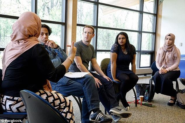 India Tv - Mark Zuckerberg visited college students to discuss Islamophobia