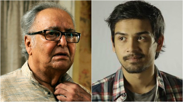 Soumitra Chatterjee and grandson