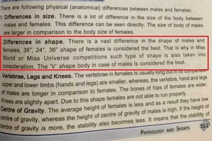 India Tv - CBSE class XII textbook defines '36-24-36' as best female body shape, sparks row