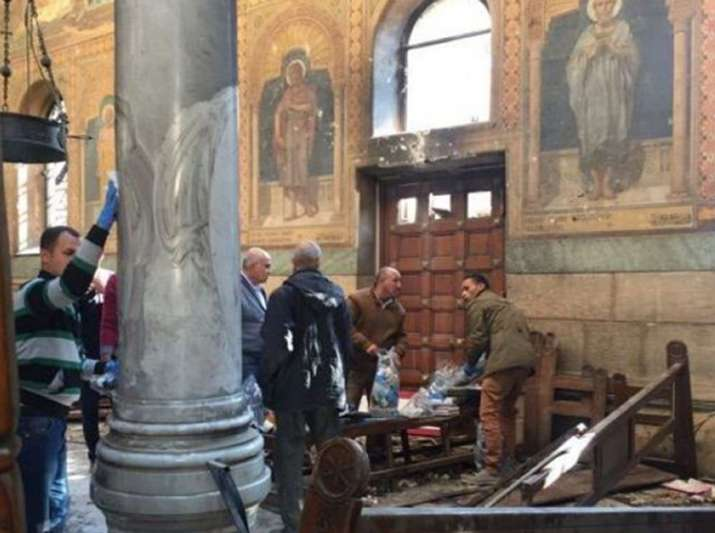 Explosion in Egypt church during Palm Sunday prayers kills