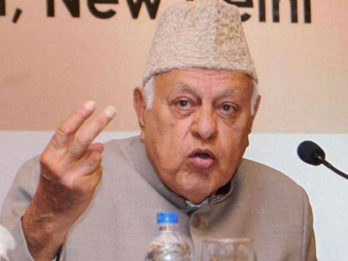 File pic of National Conference president Farooq Abdullah