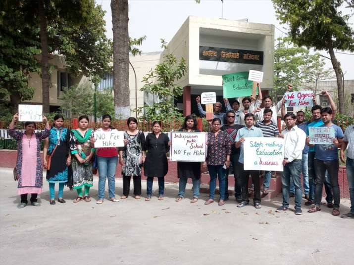 Parents protest random fee hike by private schools in