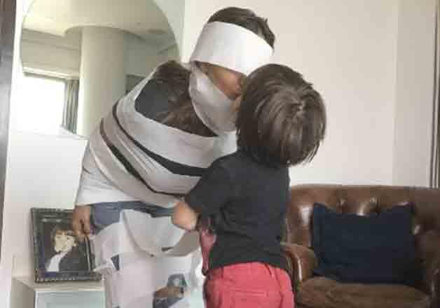 Cuteness alert: AbRam shares 'The Mummy' moment with Gauri