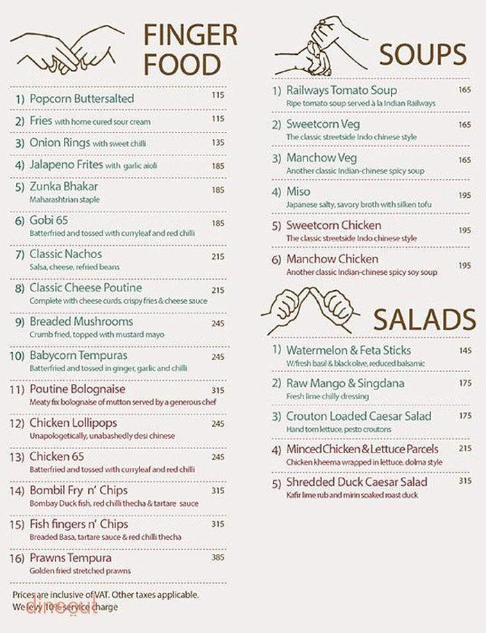 India Tv - menu card