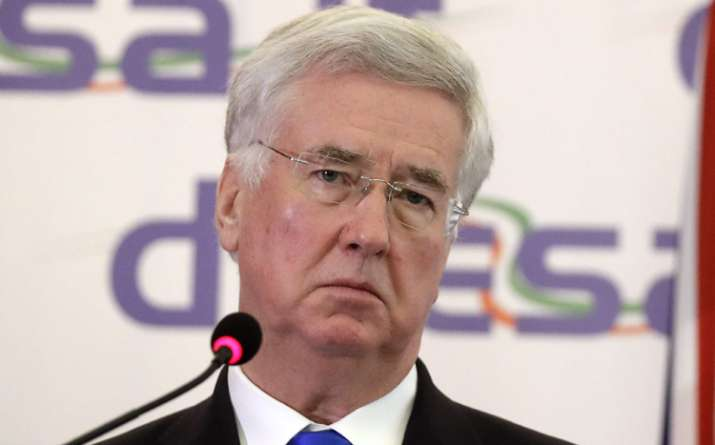 British Defence Secy Michael Fallon will arrive today on a