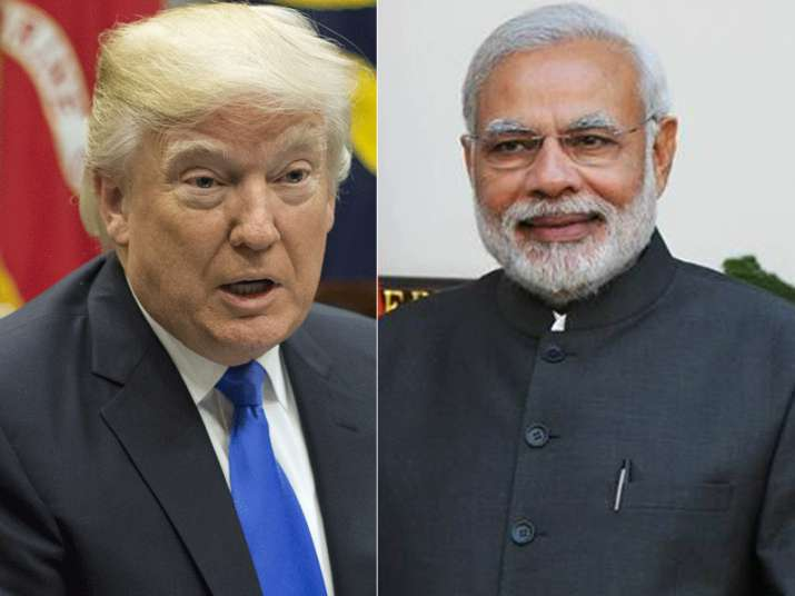 File pic - US President Donald Trump and PM Narendra Modi
