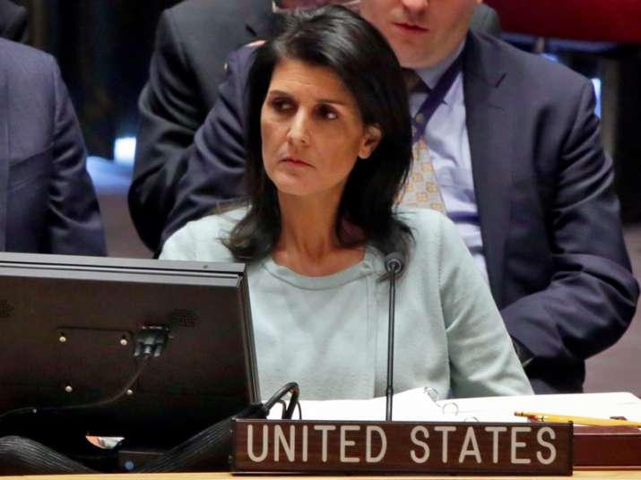 File pic of American Ambassador to UN Nikki Haley