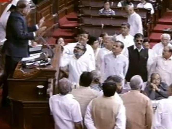 Rajya Sabha witnesses noisy scenes over EVM issue