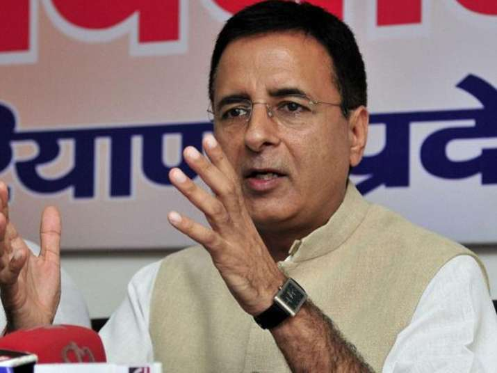 File pic of Congress spokesperson Randeep Singh Surjewala