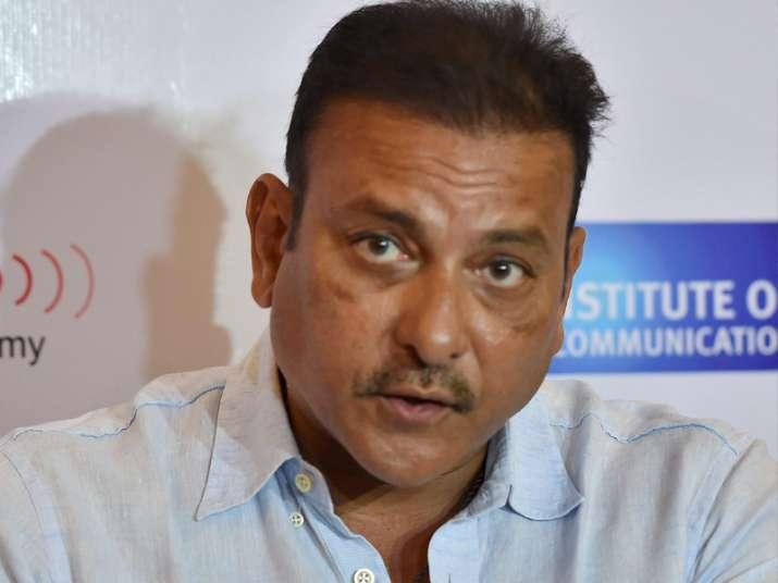 File pic - Ravi Shashtri speaks during a press conference