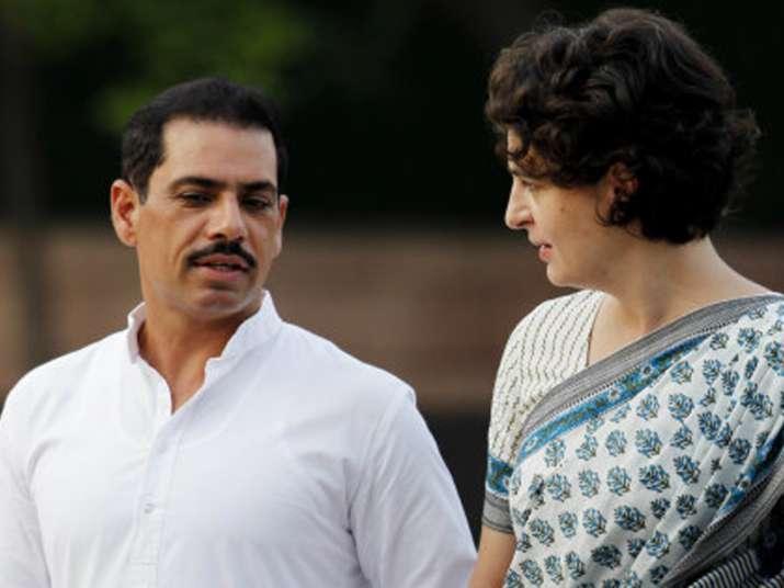 File pic of Rabert Vadra and Priyanka Gandhi
