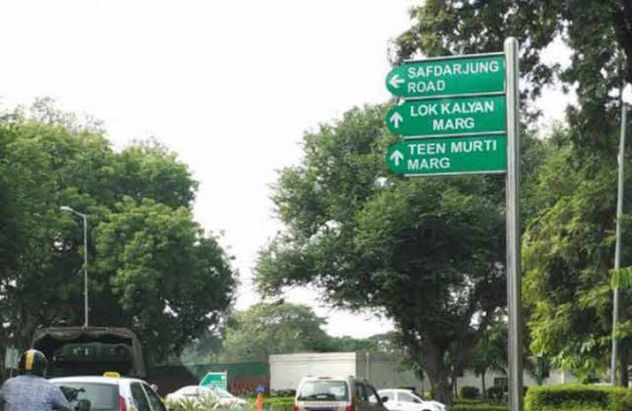 Teen Murti Marg, Chowk renamed after Israeli city Haifa