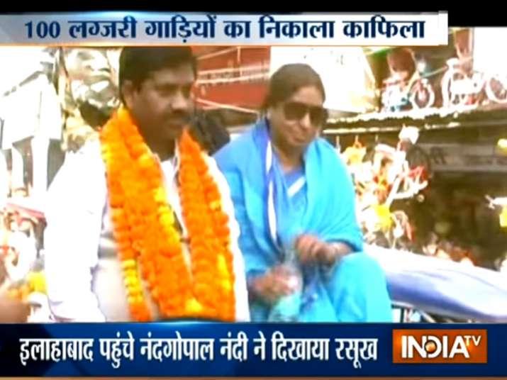 Nand Gopal Gupta roadshow in Allahabad
