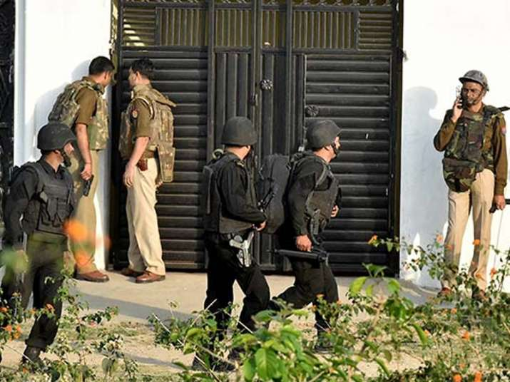 File pic of last month's Lucknow terror operation