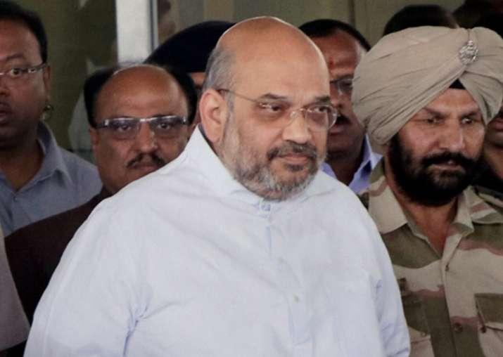 Amit Shah arrives at Nagpur Airport to visit RSS